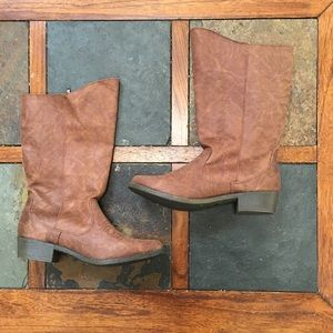 Stevie's faux leather cowgirl boots